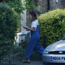 Jenna Louise Coleman at her Home in North London September 25, 2016