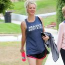Kaley Cuoco Leaving Workout in Studio City - 454 x 724