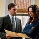 (L-r) JON HAMM as FBI Special Agent Adam Frawley and REBECCA HALL as Claire Keesey in Warner Bros. Pictures' and Legendary Pictures' crime drama 'The Town,' distributed by Warner Bros. Pictures. Photo by Claire Folger