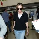 Leslie Mann At Lax In La