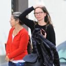 Calista Flockhart does some shopping with a friend in Los Angeles, California on December 12, 2016 - 444 x 600