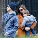 Anne Hathaway with husband Adam – Out in Chelsea in New York City - 454 x 504