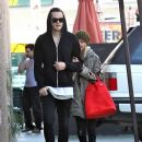 Ashley Tisdale with Christopher French: Leaving Studio Cafe in Studio City