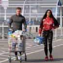 Katie Price – Shopping with Dreamboys star Al Warrell in Surrey - 454 x 370