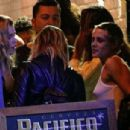 Kristen Stewart with Stella Maxwell – Seen outside a Bar in New York City - 454 x 305