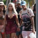 Blac Chyna and Mechie Celebrate Labor Day at a Yacht Party in Miami, Florida - September 4, 2017 - 306 x 526