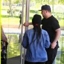 Blac Chyna and Rob Kardashian at an Office Building in Beverly Hills, California - April 12, 2016