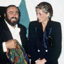 Luciano Pavarotti & Princess Diana