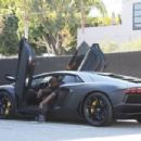 Kanye West does some shopping at Maxfield in West Hollywood,Ca