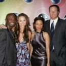 Moon Bloodgood with cast of Daybreak