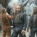 Jonnie Goodboy Tyler (Barry Pepper) is confronted by Terl (John Travolta) and Ker (Forest Whitaker) in Warner Brothers' Battlefield Earth - 2000