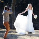 Brandi Glanville gives new meaning to the term 'blushing bride' as a series of  mishaps mar her bridal shoot - 454 x 411