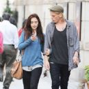 Lily Collins and Jamie Campbell Bower out and about in Toronto (August 14)
