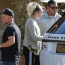 Miley and Noah Cyrus at Soho Beach House - 454 x 681