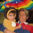 David Bowie and daughter - 454 x 454