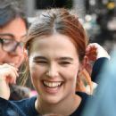 Zoey Deutch on 'Set It Up' set in New York City