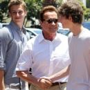 Arnold Schwarzenegger's Day Out with His Sons