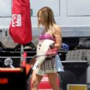 Ashley Tisdale was spotted heading to set on Sons of Anarchy today, June 19, in Los Angeles
