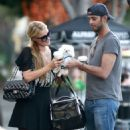 Paris Hilton and a male friend spotted out for a coffee at Alfred Coffee & Kitchen in West Hollywood, California on January 31, 2015