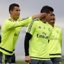 Real Madrid stars relaxed during training as Cristiano Ronaldo pranks James Rodriguez with La Liga title showdown just days away