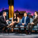 Demi Lovato, Charlie Hunnan and Rupert Friend on 'The Late Late Show with James Corden' in Los Angeles
