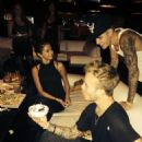 Justin Bieber and Selena Gomez Celebrating Ryan Butler Birthday September 14, 2014 at the Lucky Strike in Hollywood CA