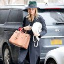 Rosie Huntington-Whiteley was seen holding her pregnant belly while shopping at ABC Carpet & Home store in New York City, New York on April 6, 2017 - 420 x 600