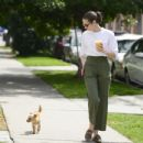 Willa Holland with her dog in Los Angeles - 454 x 434