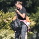 Maria Sharapova in Tights Heading to a gym in LA