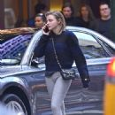 Chloe Moretz in Tights out in New York City