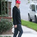 Michael C. Hall out walking his dog in Los Feliz, California on December 24, 2013 - 444 x 594