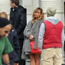 Billie Piper on set of ''Secret Diary Of A Call Girl'' in London, October 12, 2010