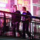 Harry Styles and Camille Rowe leaving a restaurant in Los Angeles - 454 x 437