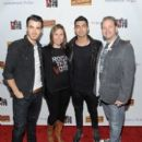 Joe and Kevin Jonas hosted the Rock The Vote Kick-Off of 2012 Election and Launch Of Exclusive Rock The Vote Apparel Line last night, February 8, in West Hollywood