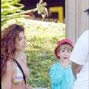 Luciana Gimenez and little son Lucas Jagger in Australia - 2004