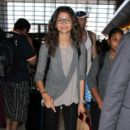 Zendaya seen arriving at Los Angeles Int'l Airport Friday, August 28,2015