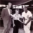 Jack Brickhouse With Ernie Banks of The Cubs