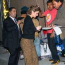 Lauren Cohan is seen arriving at 'Jimmy Kimmel Live' in Los Angeles, California