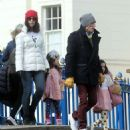 Ronnie Wood, 73, steps out with wife Sally, 43, and their daughters - April 2021 - 454 x 535
