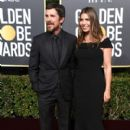 Christian Bale and Sibi Blazic At The 76th Golden Globe Awards (2019) - 400 x 600