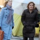 Diane Neal - Behind The Scenes For Law And Order: SVU With Mariska Hargitay