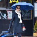 Famke Janssen out in NYC