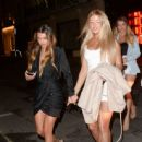 Eve Gale and Joanna Chimonides and Georgia Steel – Girls night out at restaurant MNKY HSE in London - 454 x 443