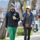 Elizabeth Olsen with Robbie Arnett out in Los Angeles