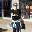 Hilary Duff in Tights – Out Shopping in Studio City