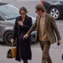 Alicia Vikander and Michael Fassbender at Girafe Restaurant in Paris 03/03/2019