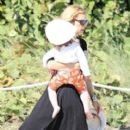 Rachel Zoe and son Little Skyler in MIAMI Beach Christmas vacations