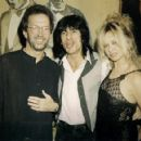 Ron and Jo Wood with Eric Clapton