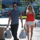 Kate Bosworth and Michael Polish stocking up on groceries at the Bristol Farm's in Los Angeles (August 27)