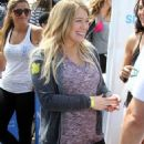 Hilary Duff and Hailey Duff attended the Pedal on the Pier charity event in Santa Monica - 454 x 624